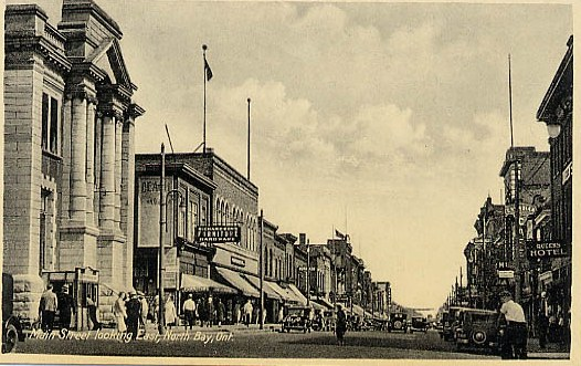 A historical photo of downtown North bay