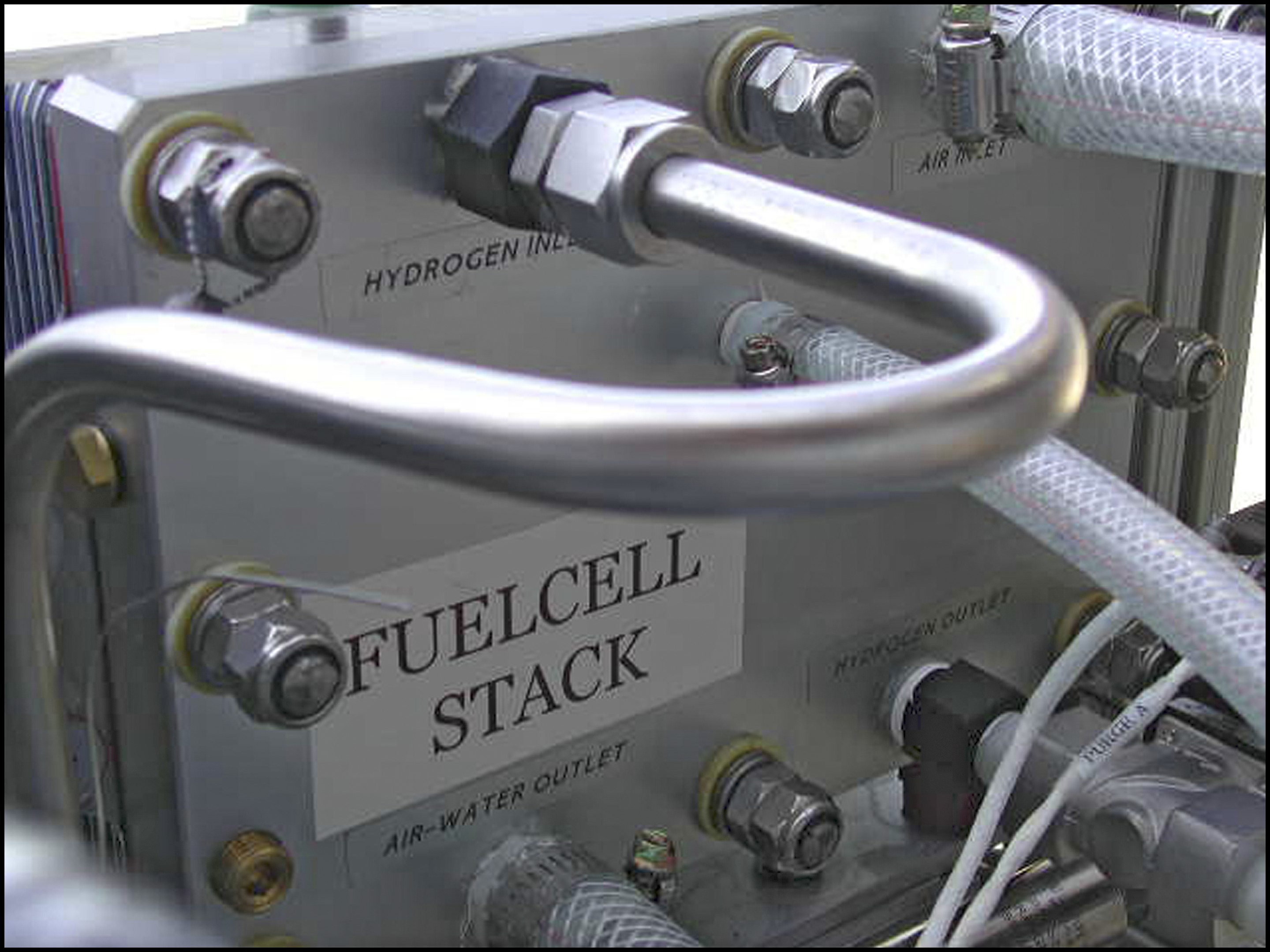 A photo of a fuelcell stack