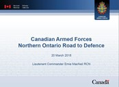 Download Canadian Armed Forces - North Bay Briefing 20 Mar 2018